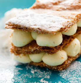 millefeuille with vanilla cream
